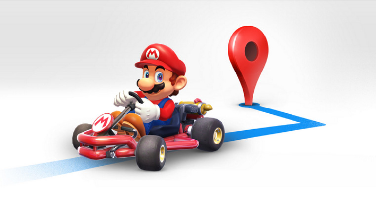 Mario prend possession de Google Maps