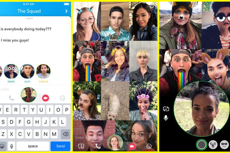 Snapchat lance des appels vidéo de groupe