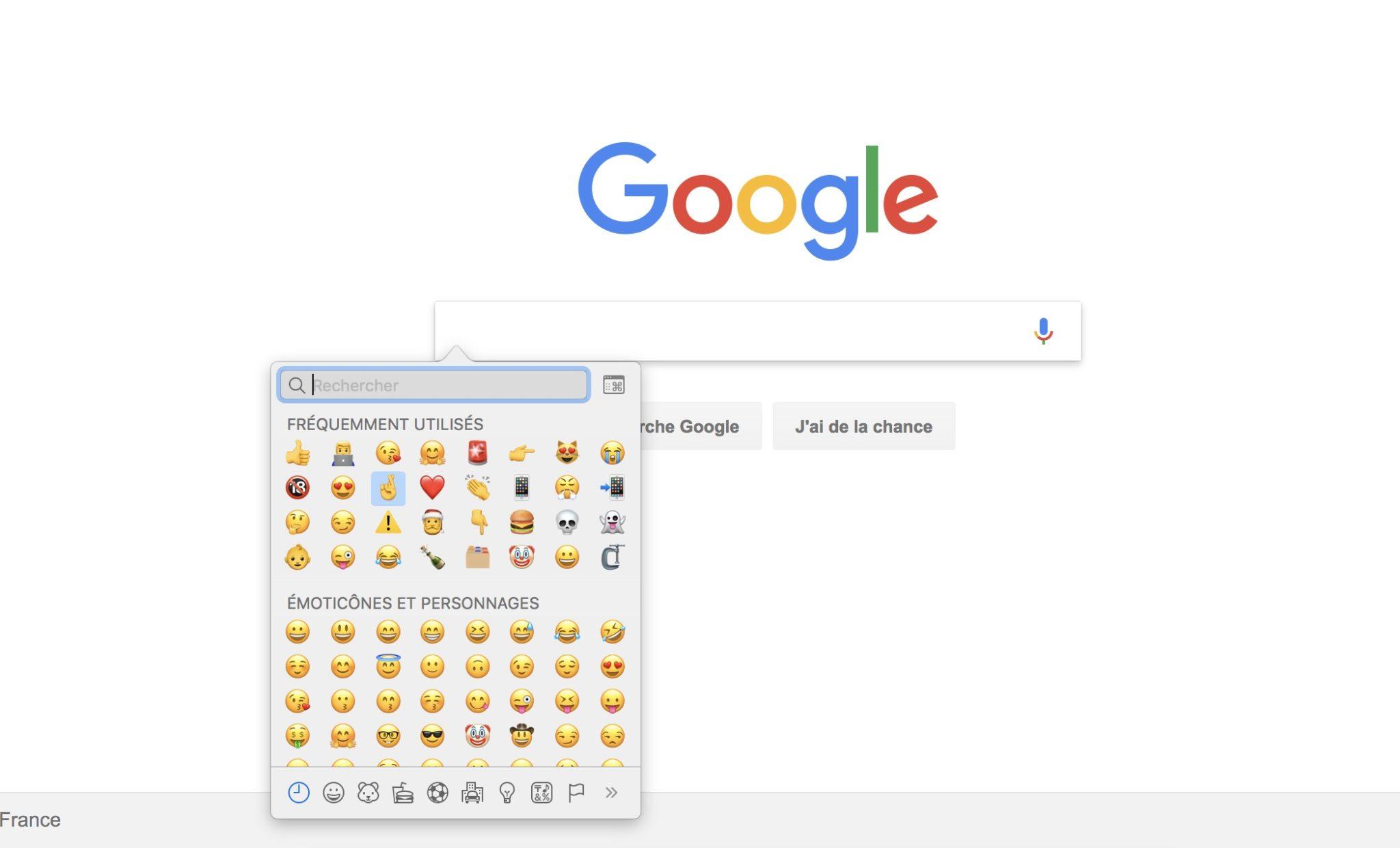 Google Chrome va faciliter la sélection d'Emojis