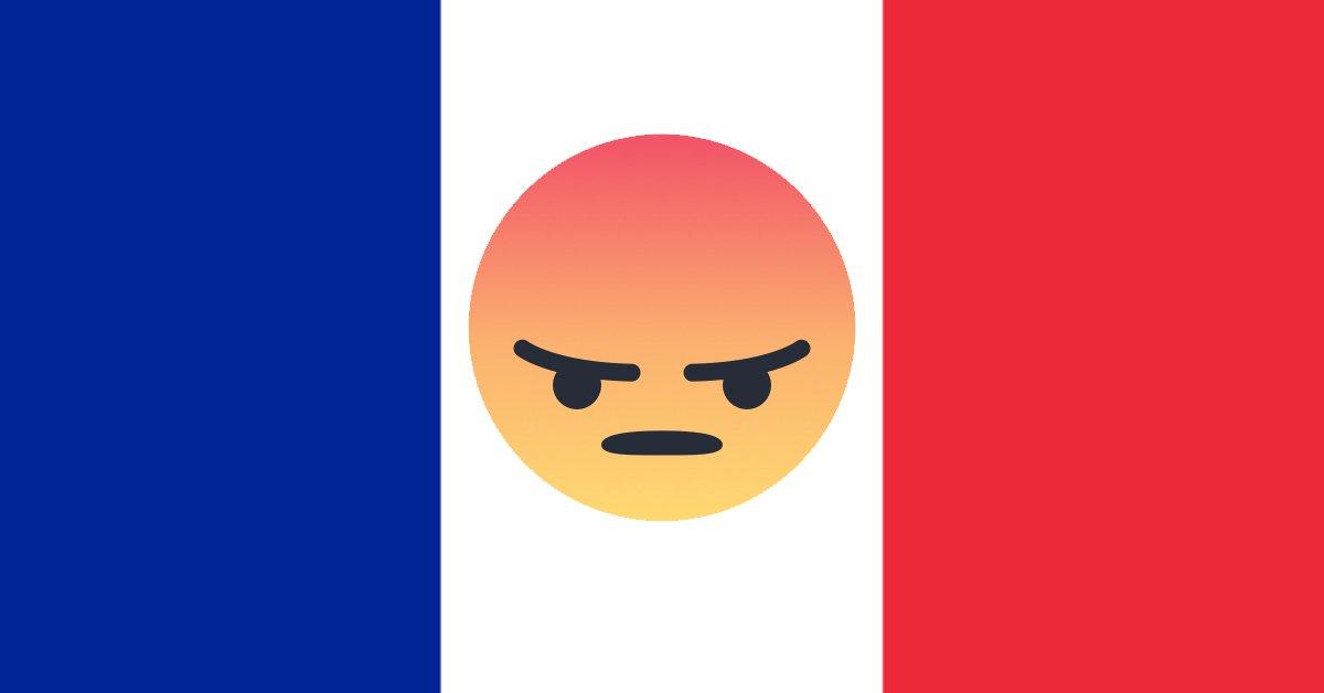 Sur Facebook, la France 2ème pays le plus énervé du monde !